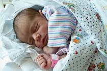 SÁRA SVATKOVÁ (3,31 kg a 51 cm) udělala 23.5. ve 2:48 radost nejen rodičům Kláře a Lukášovi z Heřmanova Městce, ale také dvouleté sestřičce Rozárce.