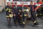 Z výcviku hasičů z Lipovce.