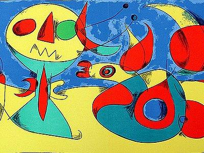Litografie z roku 1956 Oiseau Zéphyr.