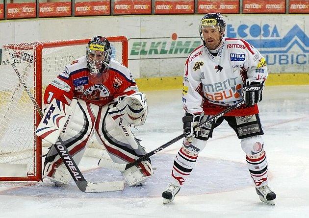 Z přípravného hokejového utkání Chrudim – Havlíčkův Brod 0:0, na nájezdy 3:2.