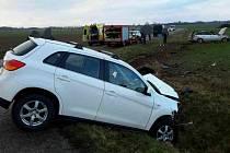 U Jenišovic se střetla dvě vozidla.
