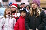 V Heřamnově Městci slavnostně rozsvítili vánoční  strom.