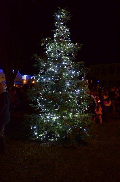Vánoční strom ve Svratouchu