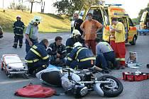 Nehoda u chrudimského letiště