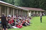 POLICEJNÍ PSOVODI přinesli dětem na sečském táboře zajímavou podívanou i ponaučení.