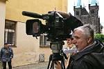 Tržiště s podtitulem Kumštýřů ráj navštívil i herec Martin Štěpánek a stal se komparzistou filmu Chrudimátor