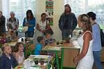 Takto vypadal 1. září 2011 první školní den na Základní škole Resslova v Hlinsku.