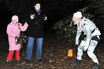 Park v Medlešicích se stal opravdu strašidelným místem hlavně pro děti.