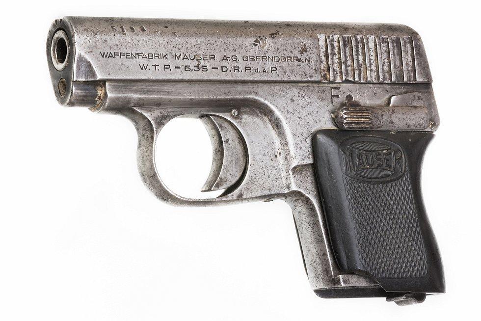 Tuto pistoli Mauser WTP ráže 6,35 mm Browning získalo Východočeské muzeum v Pardubicích v právě končící amnestii.