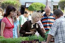 Lidé na jarmarku nakupovali sadbu, domácky vyrobené nože, keramiku a mnoho dalších věcí pro radost a užitek.