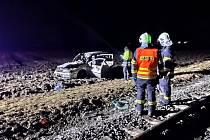 U Bítovan se srazil vlak s autem