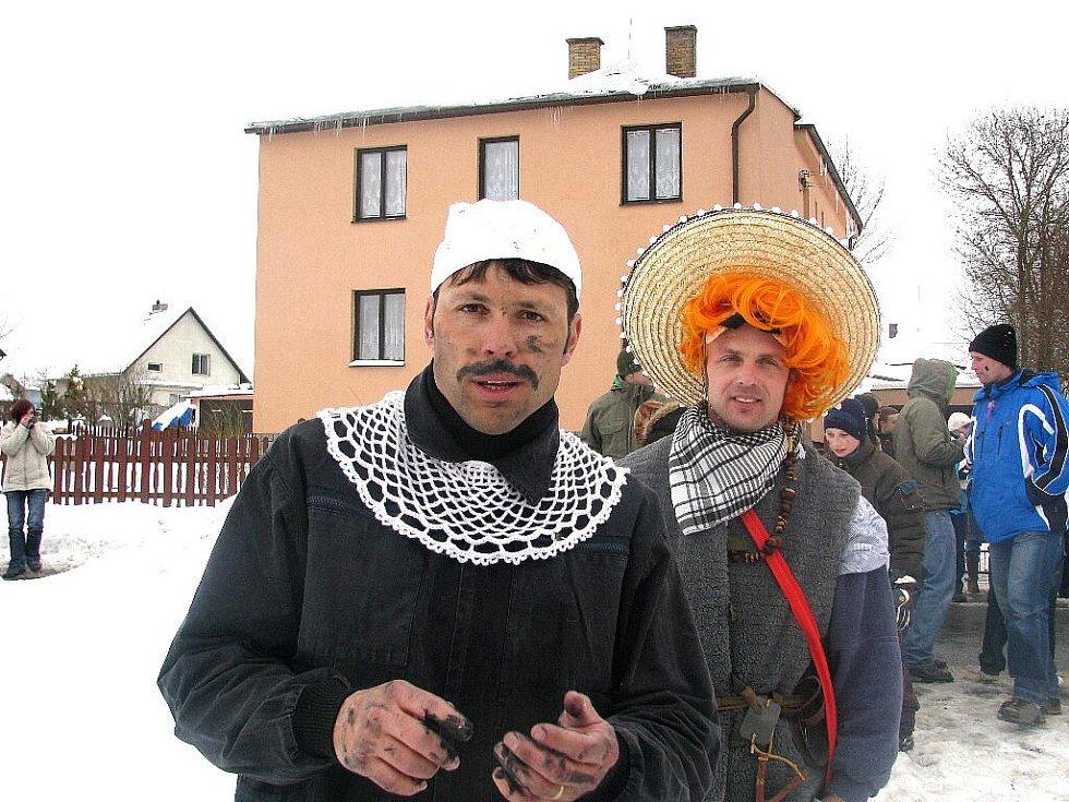 Masopustní průvod v Míčově-Sušici.