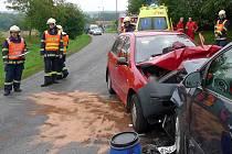 Dopravní nehoda mezi Podlažicemi a Chrastí