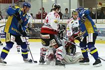 Z hokejového utkání HC Chrudim - Ústí n. Labem