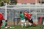 Jediný gól vstřelil Radouš do branky Loko Vltavín při sobotním utkání MFK Chrudim - Loko Vltavín.