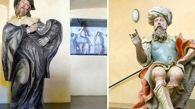 Do expozice chrudimského Muzea barokních soch v objektu někdejšího kostela svatého Josefa přibyly v pondělí další dvě restaurované sochy.