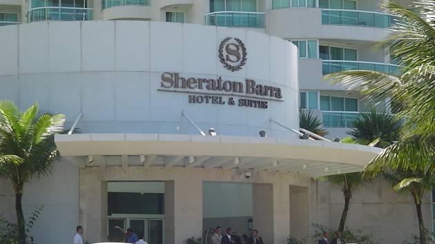 Hotel Sheraton, kde jsou uytovaní čeští futsalisté.
