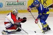 První finálový zápas hokejového přeboru juniorů Chrudim doma prohrála s Chocní.