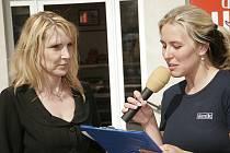 Do debaty na téma kulturního domu se zapojila i starostka Hlinska Magda Křivanová (vlevo).