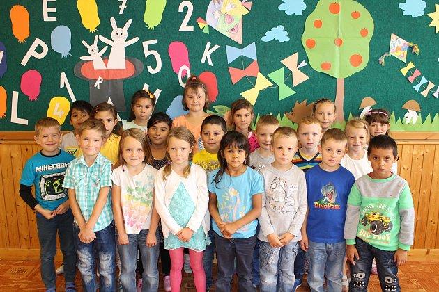 Žáci 1.B ze Základní školy Luže, kterou vede paní učitelka Iva Kovačková.