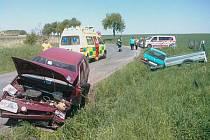 Při srážce Škodovek v Chrudimi v sobotu 7. května 2011 byly zraněny dvě osoby.