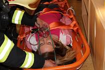 Taktické cvičení hasičů v Mateřské škole U Stadionu