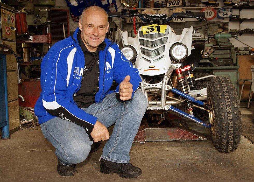 Josef Macháček po návratu z Rallye Dakar 2009.