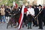 """Sobotní hapenning """"Konečně mír! Konečně svoboda!"""" byl ojedinělým pokusem o rekonstrukci událostí 28. října 1918"""