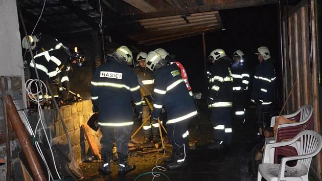 Požár dílny v Třemošnici