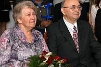 Manželé Anna a Luboš oslavili zlatou svatbu.