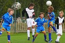 Z utkání mladších žáků ročník 1998 Slatiňany - AFK Chrudim 2:1.