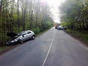 Hasiči zasahovali u dopravní nehody u obce Starý Dvůr.