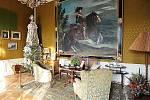 Lidé využili možnost navštívit svátečně vyzdobené interiéry slatiňanského zámku.