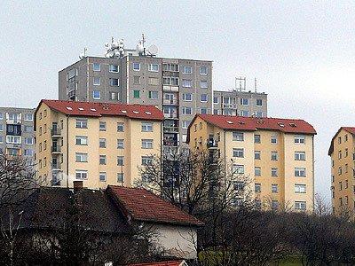 Bytové domy Na Větrníku v Chrudimi.