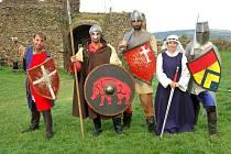 Šermířská skupiny Rytíři krále Jana Lucemburského vystoupili na Lichnici.