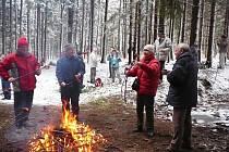 Turisté z Chrudimě se sešli na konci roku u Filipovského pramene.
