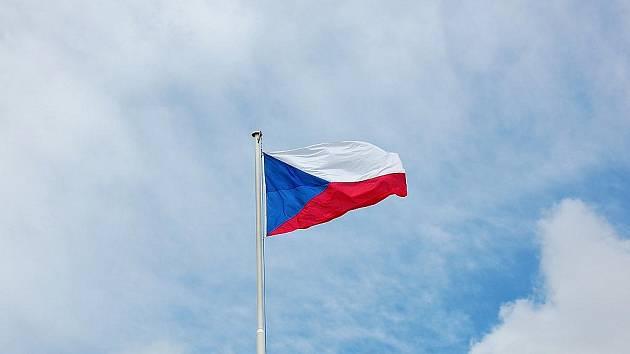Vlajka České republiky.