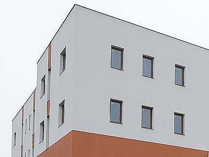 Pohled na nový Domov seniorů v Chrudimi.