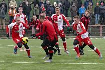 MFK Chrudim při zápase se Slavií