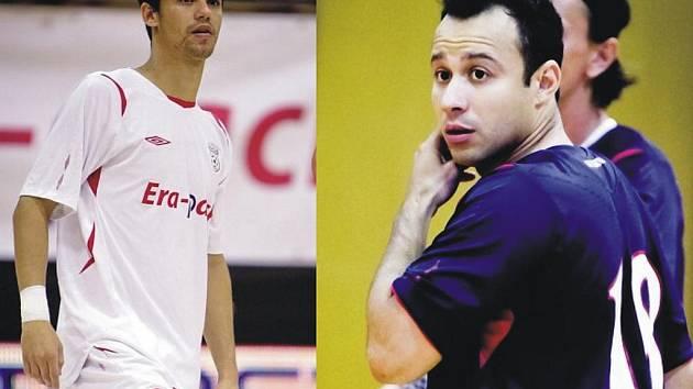 Brazilští futsalisté v barvách ERA-PACKU. Zleva: Max, Paulinho.