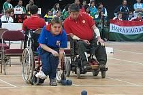 Boccie je paralympijská úprava petanque pro vozíčkáře.