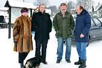 Maškary na tradiční masopustní obchůzce po Studnicích.