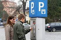 Parkovací automat v Chrudimi. Ilustrační snímek.