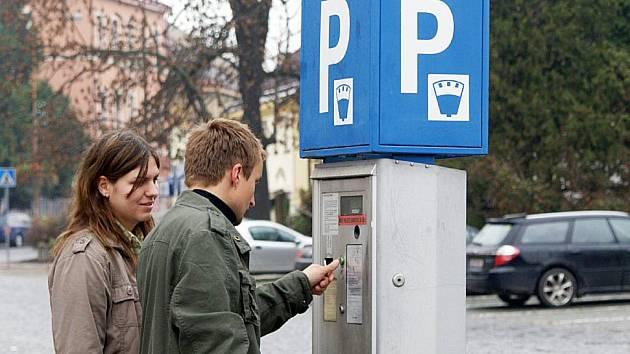 Parkovací automat. Ilustrační snímek.