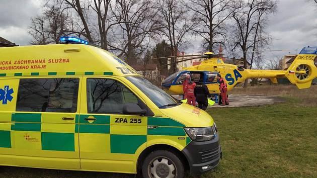 U nehody zasahoval vrtulník. Ilustrační foto