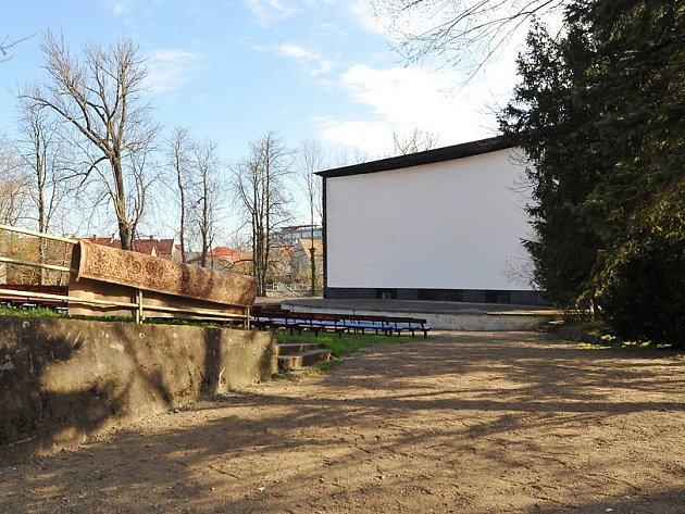 Areál letního kina v Chrudim