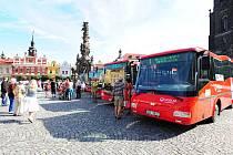 Předání nových nízkopodlažních autobusů chrudimské MHD.