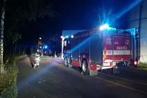 Zásah hasičů ve Skoranově