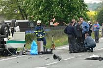 Místo tragické havárie policejního vozu.
