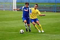 Z utkání I. kola Ondrášovka Cupu Náchod - Chrudim 0:4.